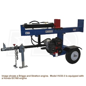 Ramsplitter 20-Ton Honda-Powered Horizontal / Vertical Gas Log Splitter